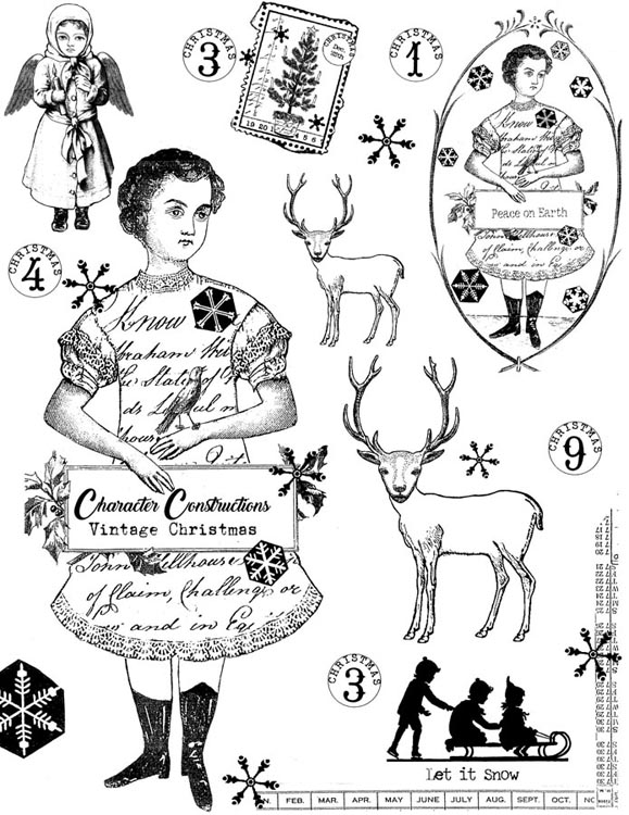Vintage Christmas Character Constructions